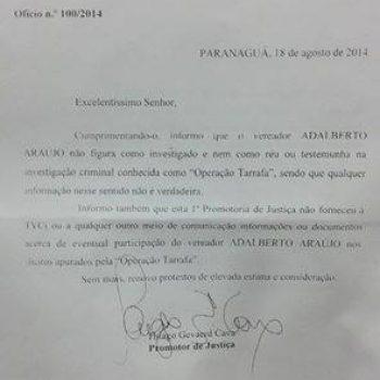 Discurso do Vereador Adalberto Araújo na sessão do dia 19/08/2014.