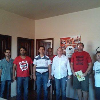"""Vereadores apoiam greve da APP-Sindicato e aderem à campanha """"#eutonaluta""""; magistério municipal também será defendido"""